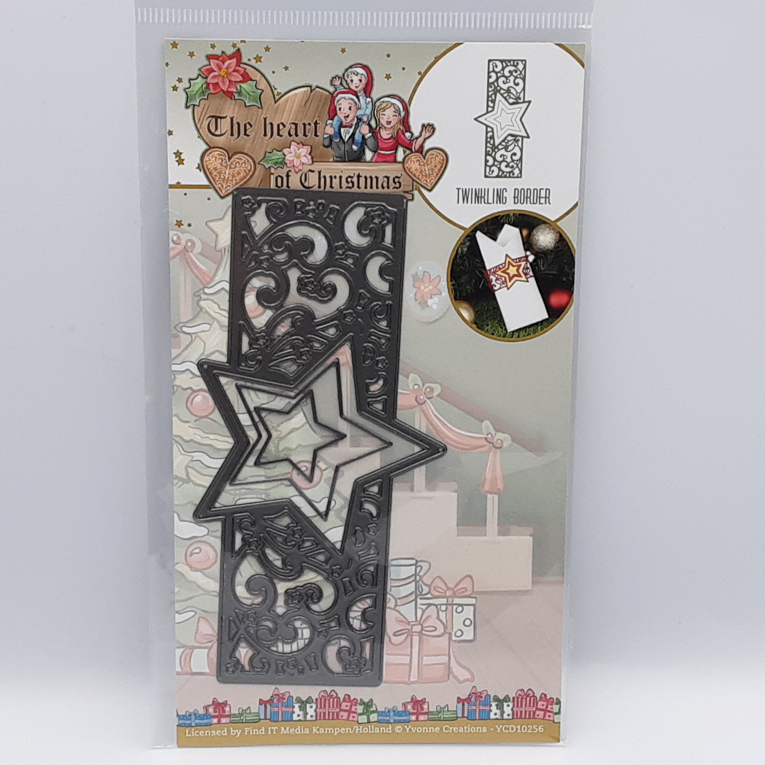The heart of christmas Twinkling border