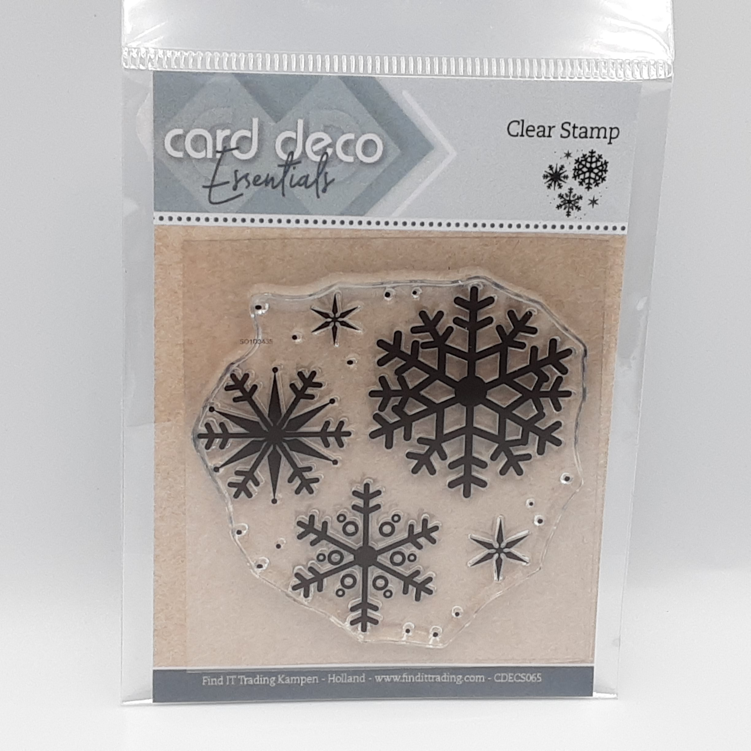 Clear stamp snowflake