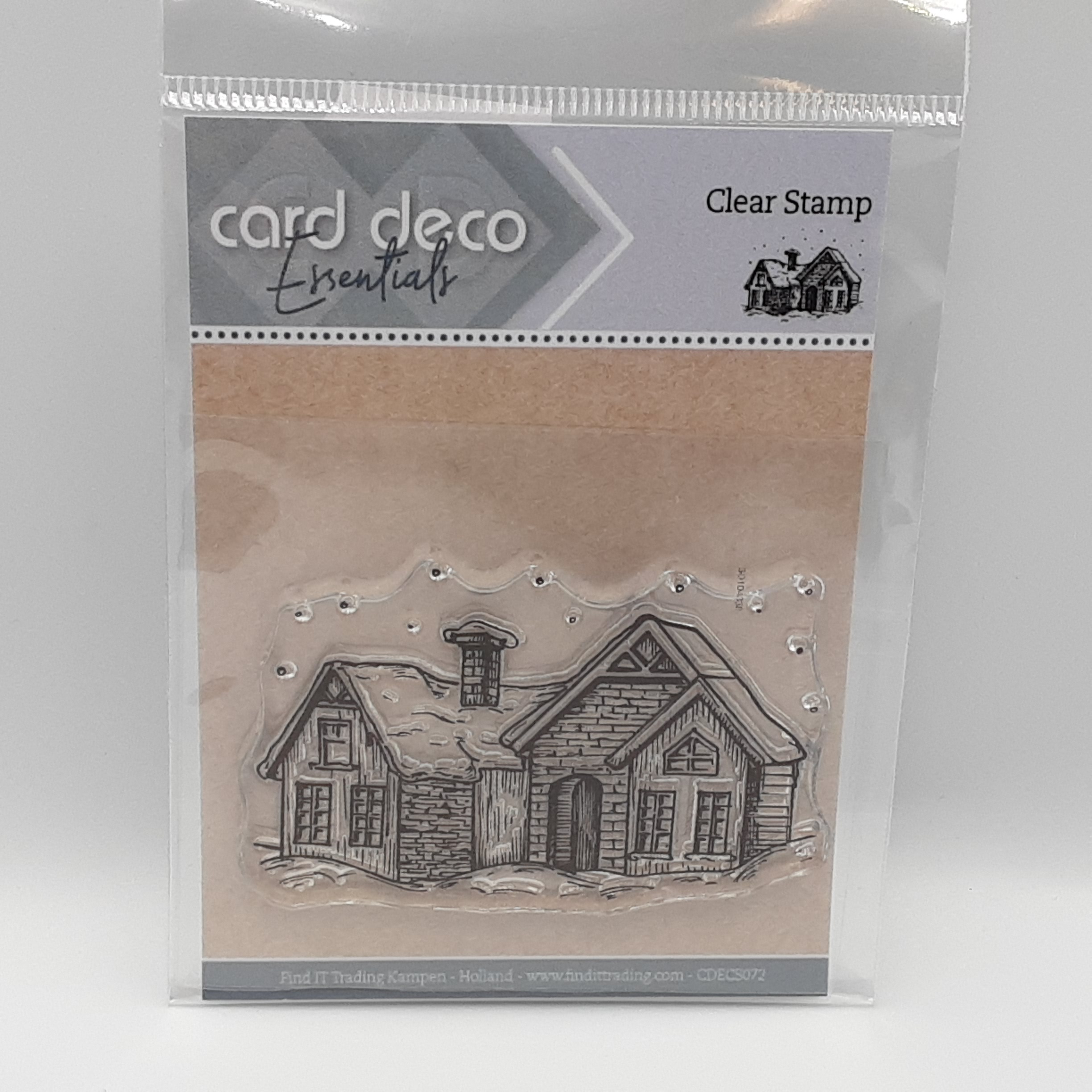 Snow house clear stamp