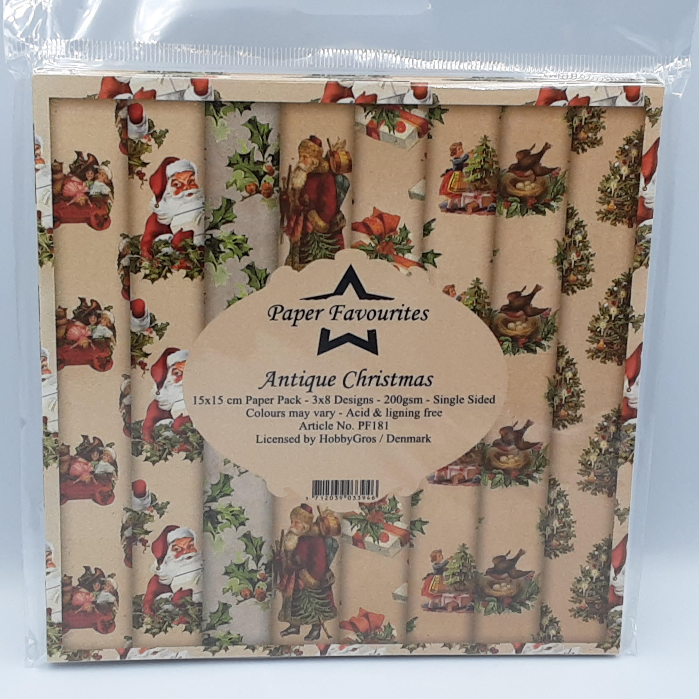 Antique christmas paperpack