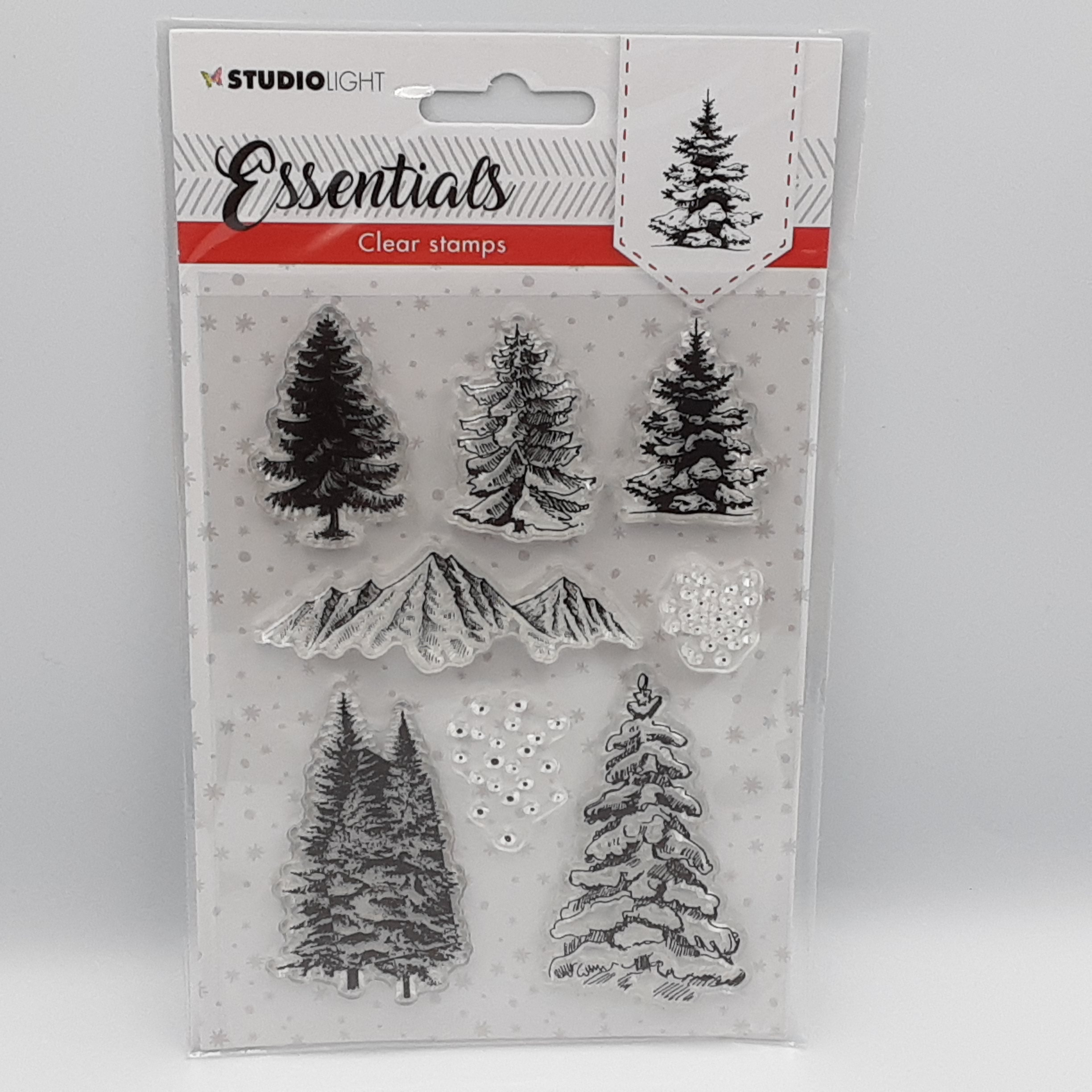 Clearstamp christmas trees nr93