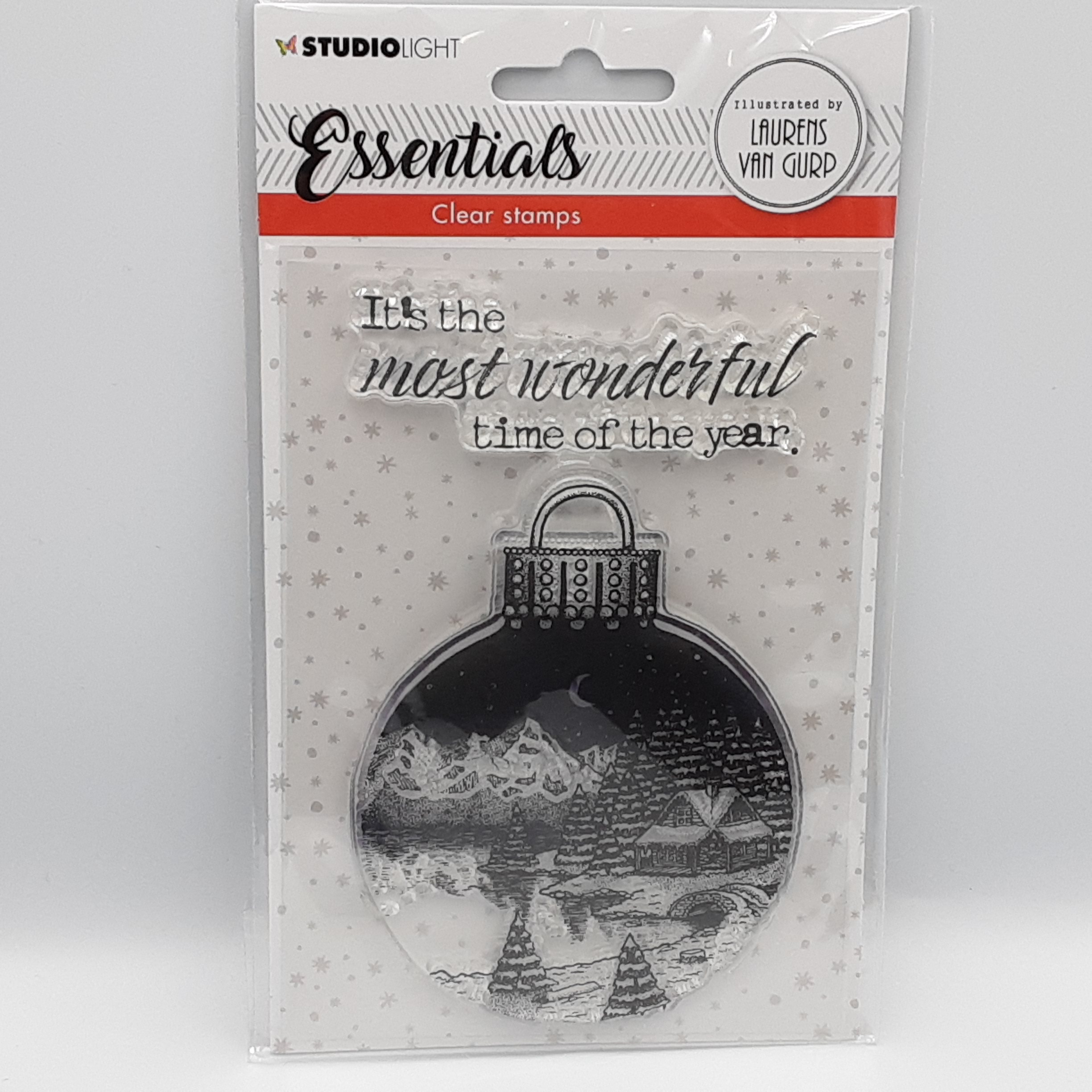 Christmas bal essentials clear stamp